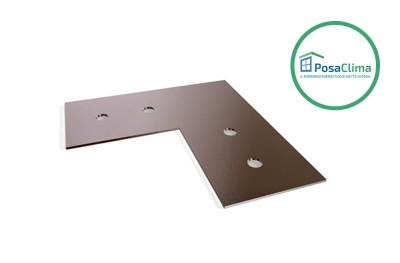 Alignment Plate in Galvanized Steel for Klima Pro PosaClima Counterframe