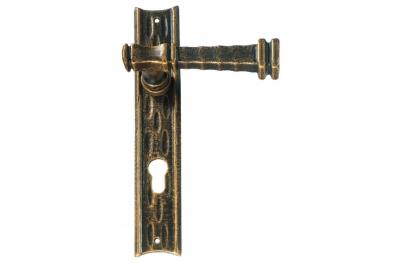 Antique Style Galbusera Door Handle with Plate