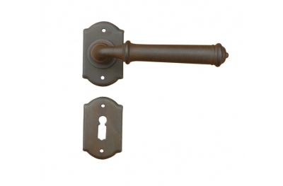 Tallin 2 Galbusera Door Handle with Rosette and Escutcheon Plate