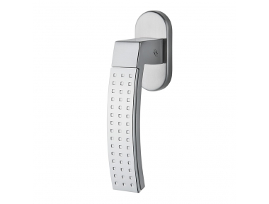 Trama 2 DK Dry Keep Window Handle with Chrome Texture by Colombo Design