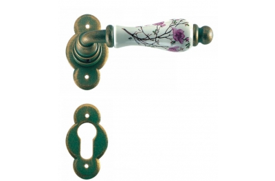 Wien Galbusera Door Handle with Rosette and Escutcheon Plate