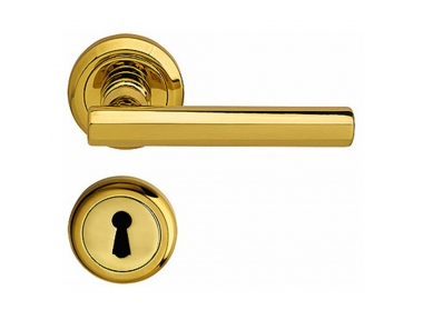 Vienna Handle on Round Rose With Keyhole Covers With Spring in Classic Style Bal Becchetti