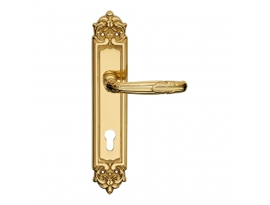Virgo Series Epoque forme Door Handle on Plate Frosio Bortolo With Ornaments