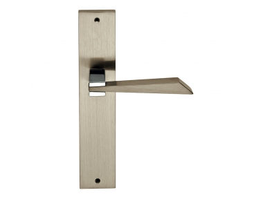 Wanda Series Fashion forme Door Handle on Plate Frosio Bortolo With Bronze Finish