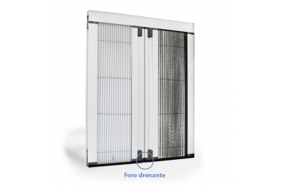 Blackout Flyscreen with Pleated Net Circe Duo against Insects and Sunlight