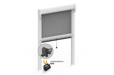 Winding Mosquito Net with Button and Magnetic Hook for Window Kiss 50 Zanzar Sistem