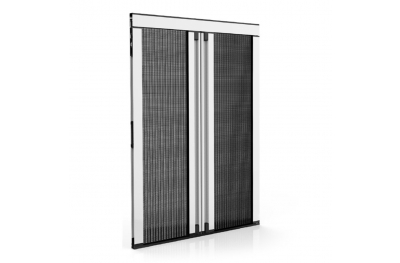 Lateral Pleated Mosquito Net Thickness 18 mm for Door-Window 2 Plissé Doors Zanzar Sistem