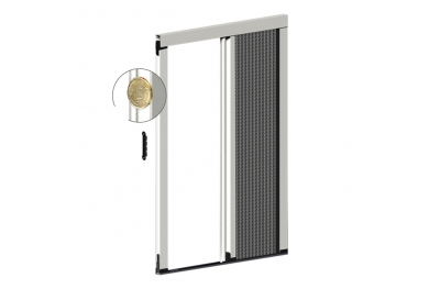 Lateral Pleated Mosquito Net Thickness 22 mm for Balcony Door 1 Plissé Door Zanzar Sistem