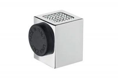 Zen Mesh 302 FE Door Stopper Linea Calì with Swarovski® Crystals in Cube Shape